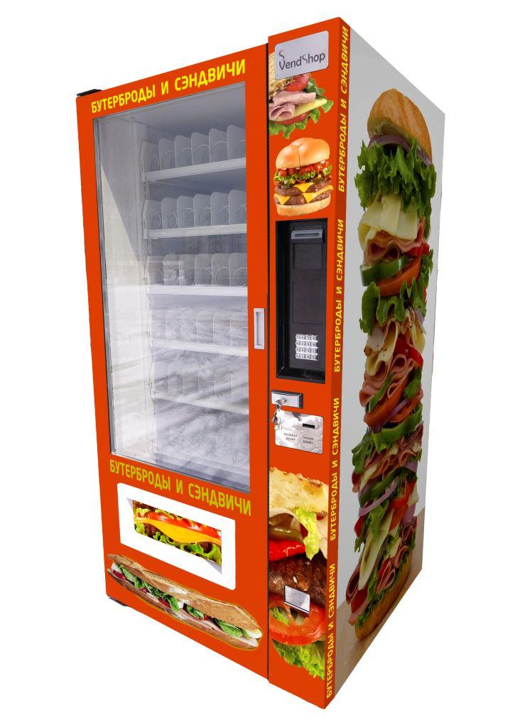 Торговый автомат SM 6367 VendShop по продаже бутербродов и сандвичей