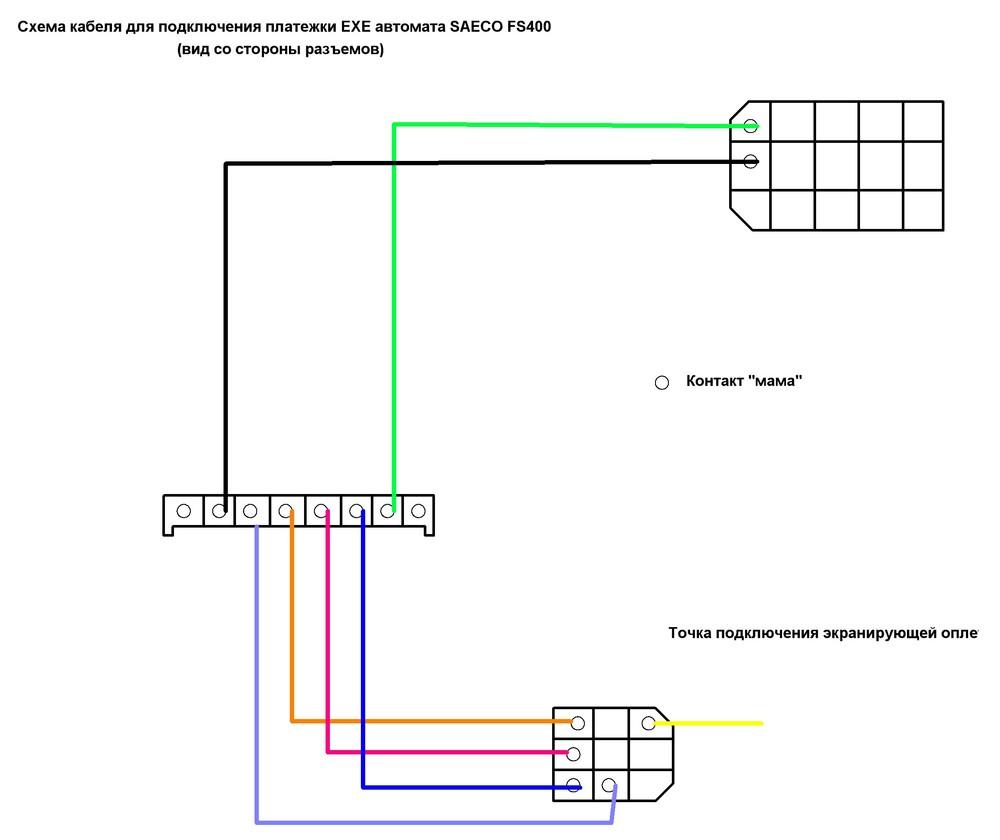 Провод для подключения платежки по ЕХЕ SAECO FS400.JPG