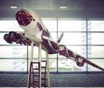 Скульптура-самолет