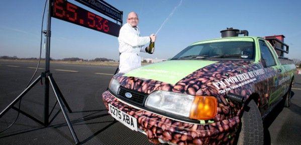 Автомобиль на кофейном топливе!
