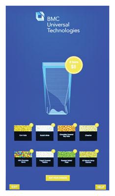 Сделать заказ очень просто: покупатель подходит к киоску, касанием экрана активирует меню и формирует заказ (в углу экрана будет отображаться информация о пищевой ценности выбранного товара). После совершения платежа, покупка маркируется, запечатывается и поступает в зону выдачи.