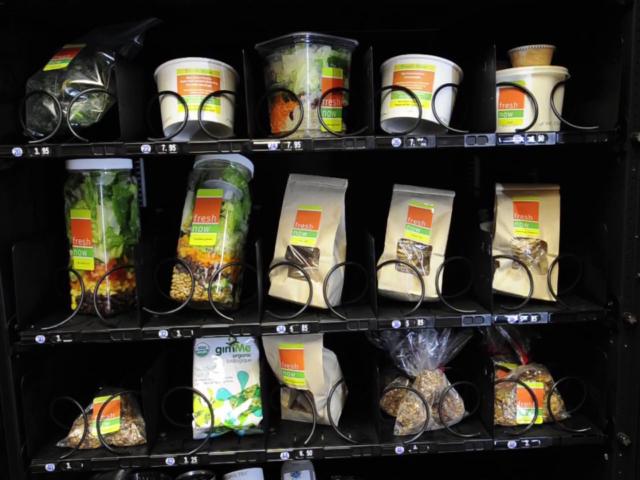FreshNow - Торговый автомат, продающий вегетарианские продукты