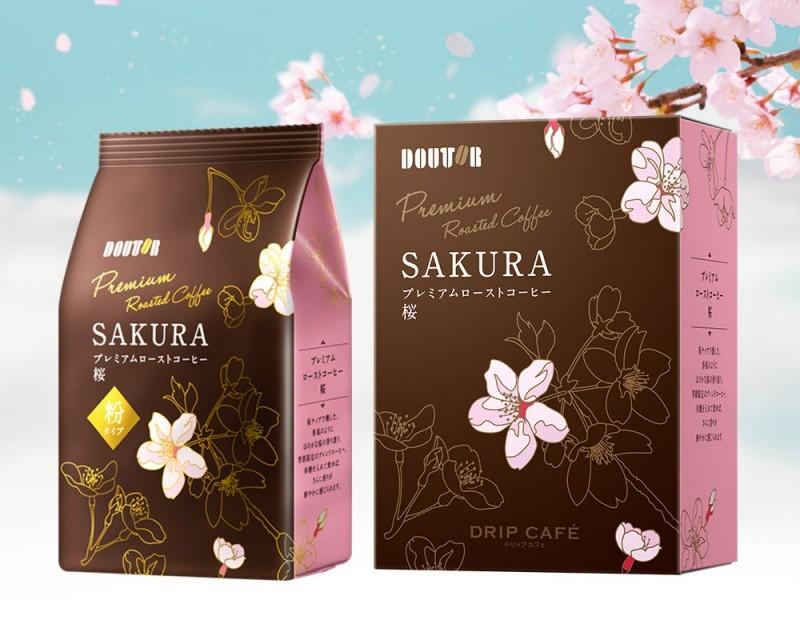 Японская кофейная цепочка Doutor показала премиальный сакура-кофе