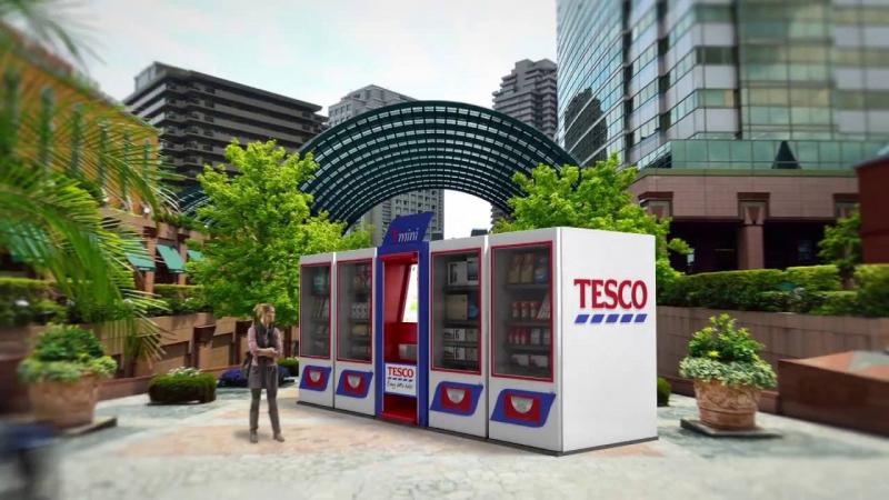 TESCO меняет 15 000 сотрудников на торговые автоматы