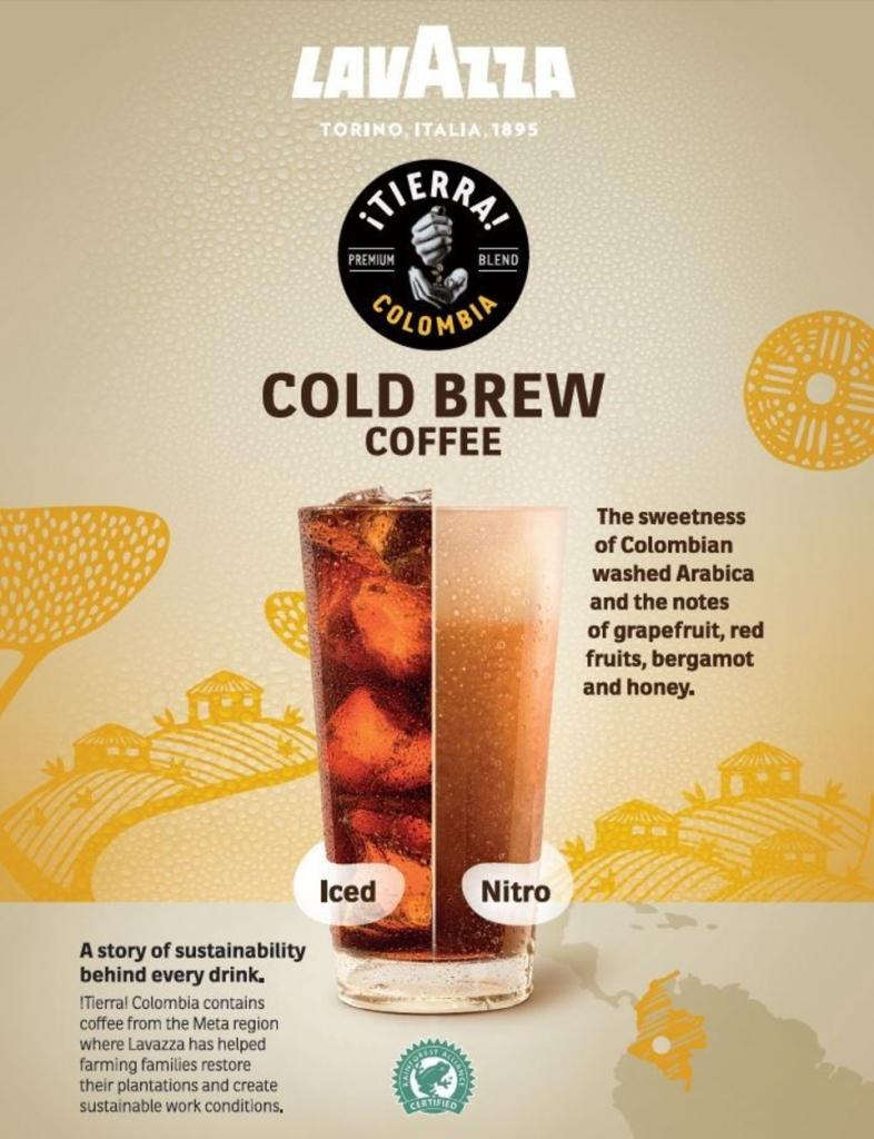 Lavazza покоряет США холодным кофе ¡TIERRA! Colombia