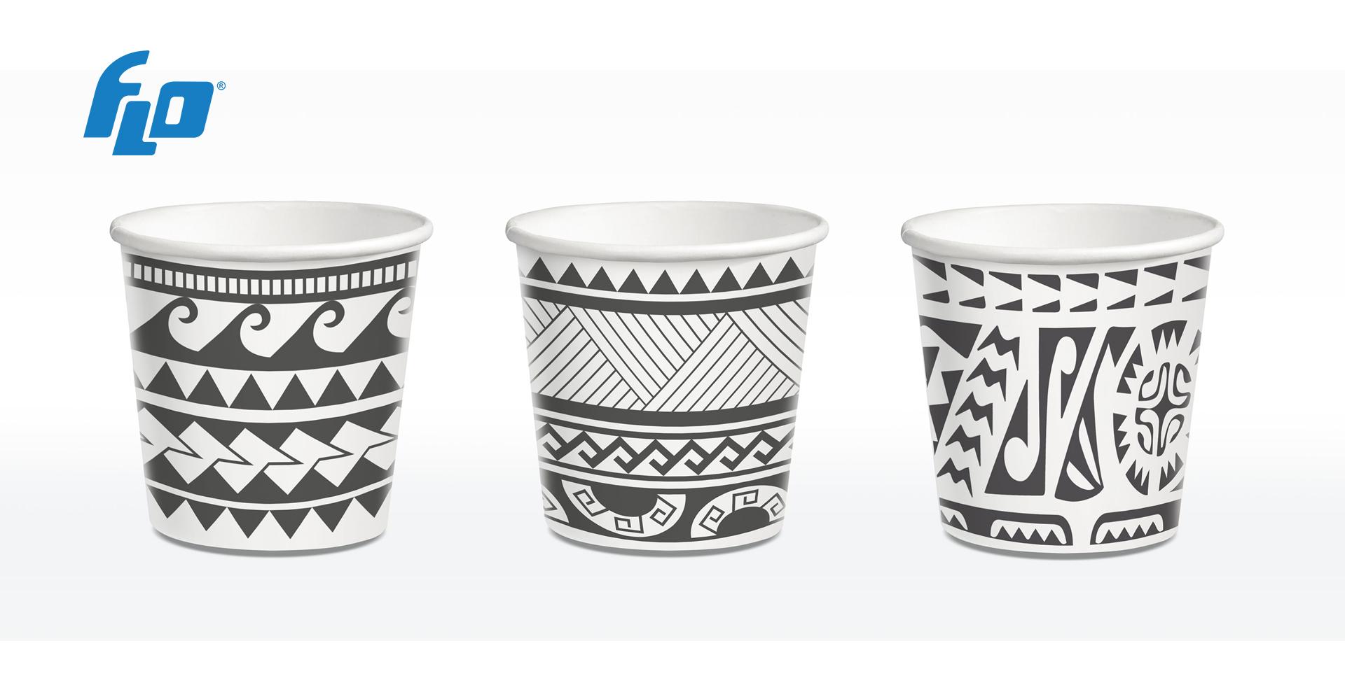 FLO представляет Maori, новую коллекцию бумажных стаканчиков