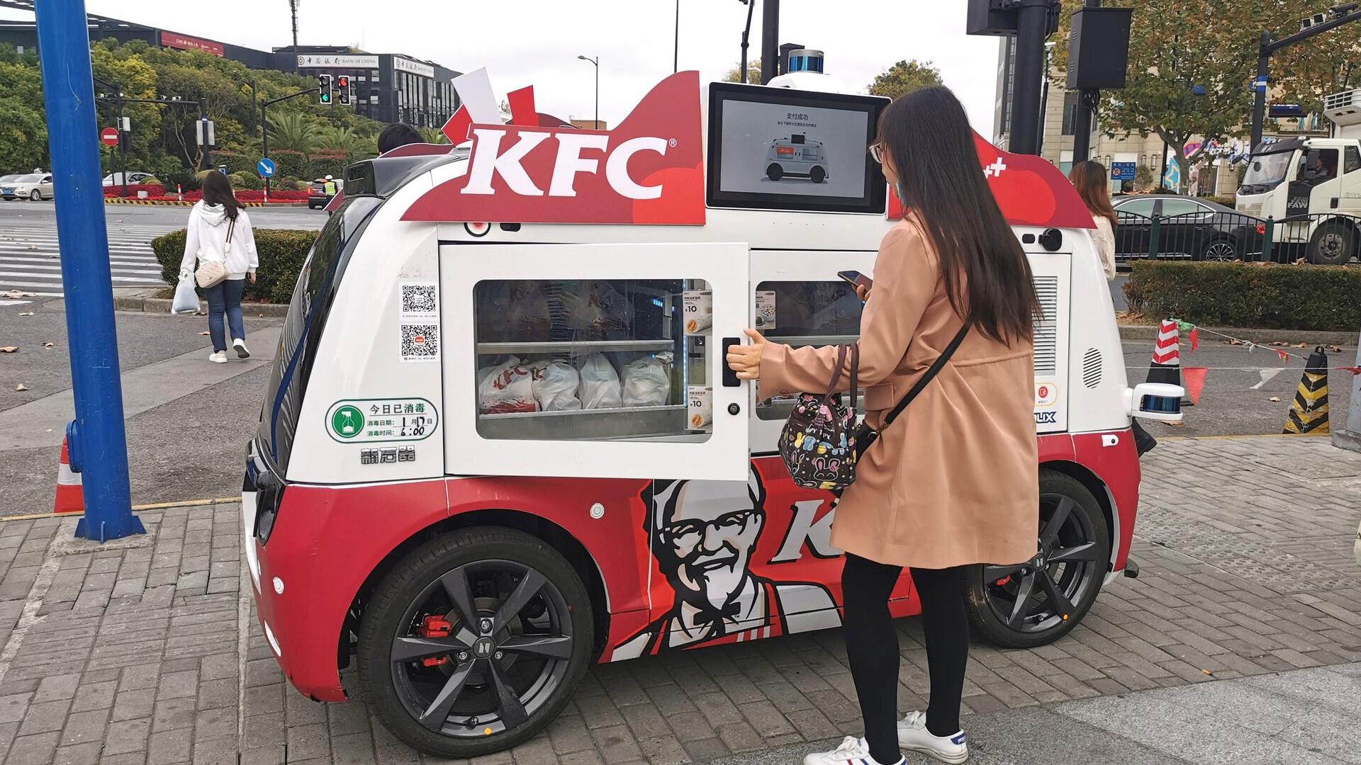 Фаст-фуд уходит в вендинг: автономные грузовички KFC в Китае вызывают зависть!?