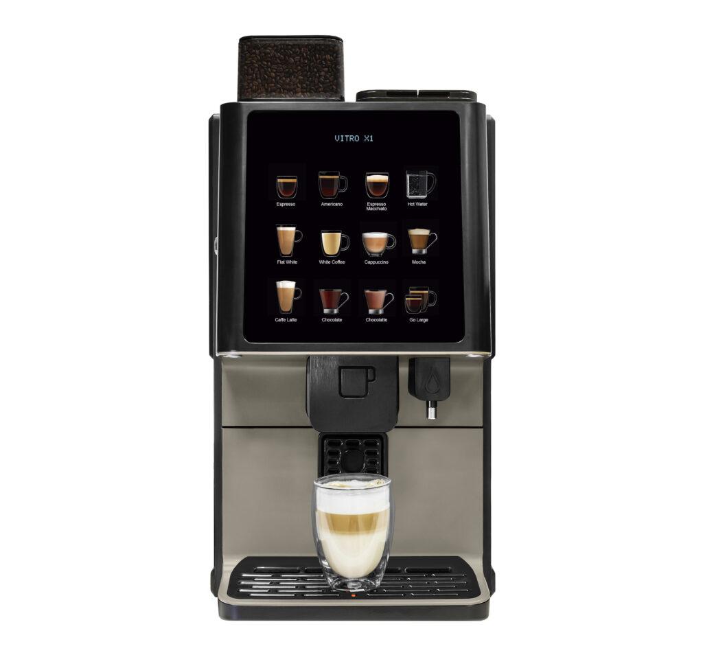 Azkoyen запускает свою компактную кофемашину Vitro X1 с технологией дистанции