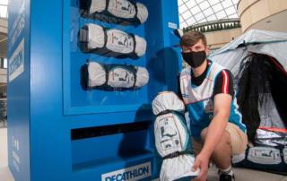 Спортивный вендинг: первый торговый автомат для продажи палаток